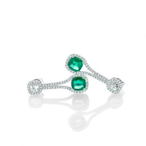 Heidi Kjeldsen Astonishing Emerald and Diamond Drop Earrings ER2205-1