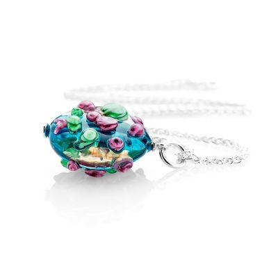 Heidi Kjeldsen Delightful Blue Murano Glass Pendant P1071B_SILCH185.5-1