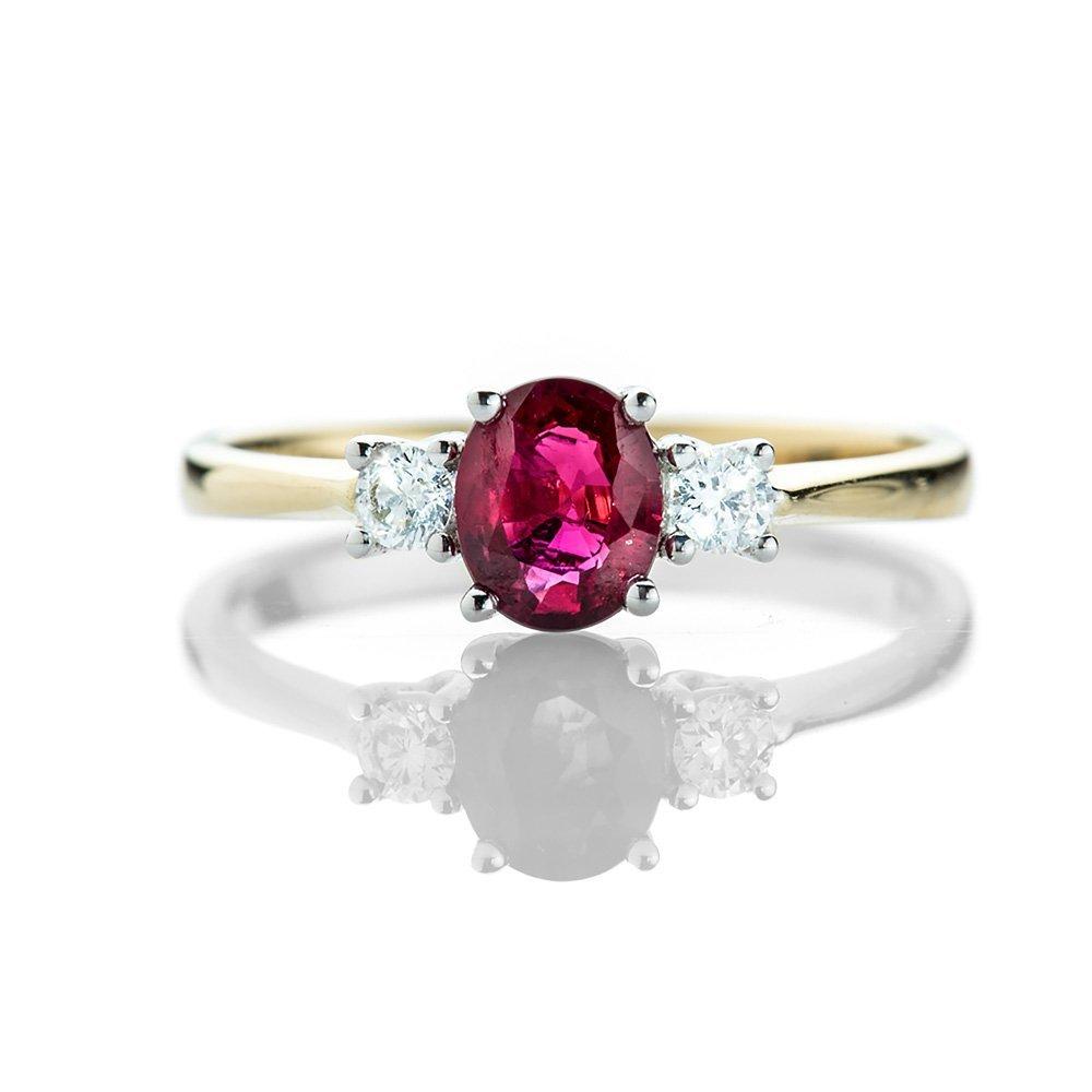 Heidi Kjeldsen Delightful Ruby and Diamond Three Stone Ring R1167-1