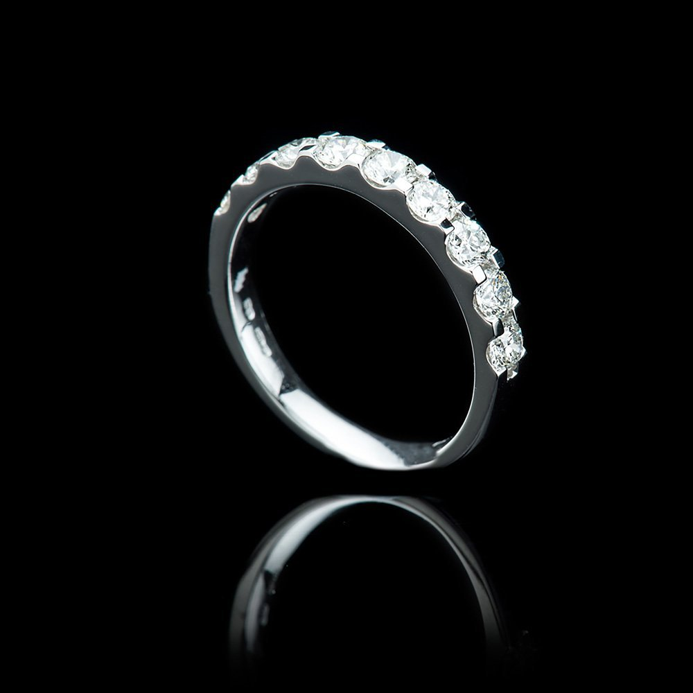 Heidi Kjeldsen Glorious Diamond and Platinum Nine Stone Ring R1169-1