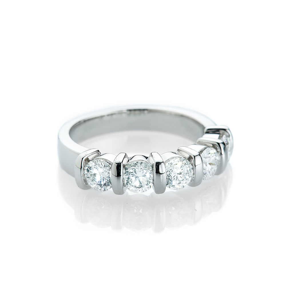 Magnificent Diamond Bar Ring