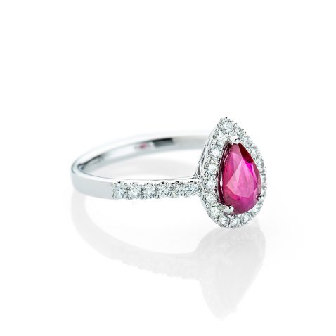 Heidi Kjeldsen Stunning Ruby and Diamond Pear Shaped Ring R1161-1
