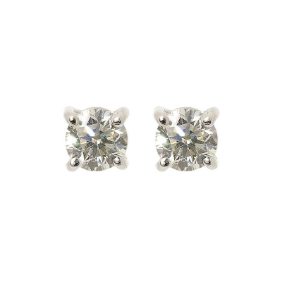 Diamond and 18ct White Gold Earstuds