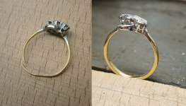 repairing a well loved diamond ring