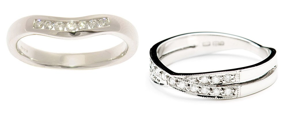 shaped wedding rings