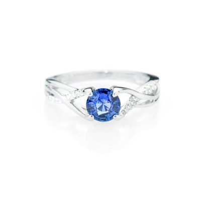 Heidi Kjeldsen Alluring Ceylon Sapphire And Diamond 18ct White Gold Ring