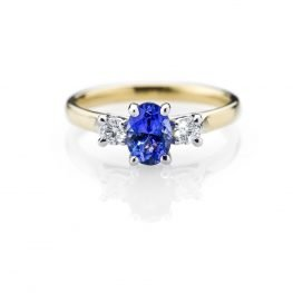 Heidi Kjeldsen Breathtaking Tanzanite And Diamond 18ct Yellow And White Gold Ring