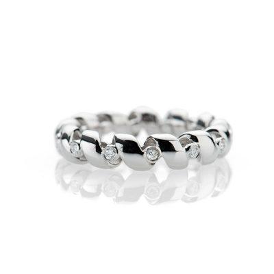 Heidi Kjeldsen Captivating Diamond 18ct White Gold Bespoke Ring