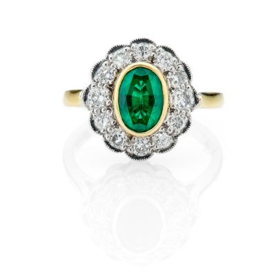 Heidi Kjeldsen Captivating Emerald Oval Cluster Ring R747-1
