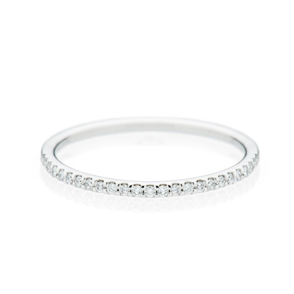 Stylish Brilliant Cut Natural Diamond And Gold Full Eternity Ring