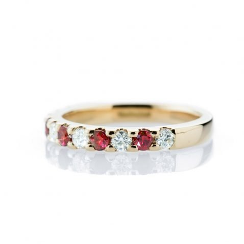 Ruby and Diamond Yellow Gold Ring By Heidi Kjeldsen Jewellery R1187 Side