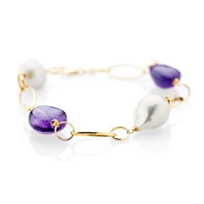 Heidi Kjeldsen Exotic Amethyst and 18ct yellow gold Bracelet