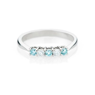 Heidi Kjeldsen Feminine Treated Blue Diamond 18ct White Gold Ring