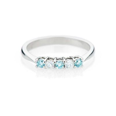 Heidi Kjeldsen Feminine Treated Blue Diamond 18ct White Gold Ring