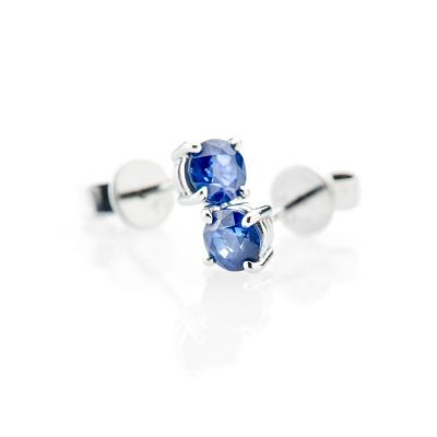 Heidi Kjeldsen Glorious Ceylon Sapphire And 18ct White Gold Earrings
