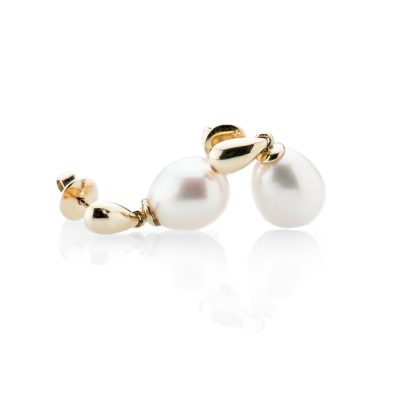 Heidi Kjeldsen Gorgeous Drop Pearl And 9ct Yellow Gold Earrings