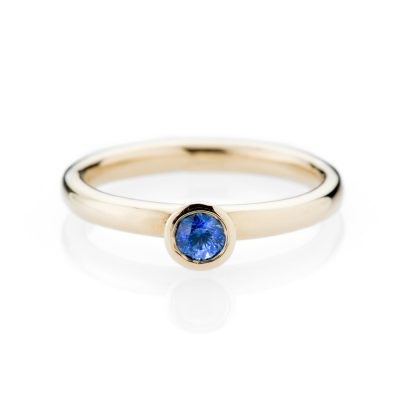 Heidi Kjeldsen Hypnotic Ceylon Sapphire And 9ct Yellow Gold Stacking Ring