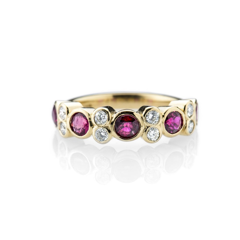 Magnificent Ruby and Diamond Bespoke 18ct Yellow Gold Ring