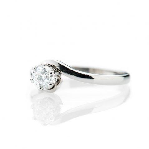 Heidi Kjeldsen Mesmerising Diamond And 18ct White Gold Swirl Ring R1189 Side