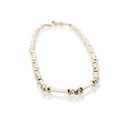 Heidi Kjeldsen Modern Bespoke 9ct Yellow Gold Necklace