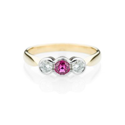 Heidi Kjeldsen Ruby And Diamond 18ct Yellow And White Gold Ring