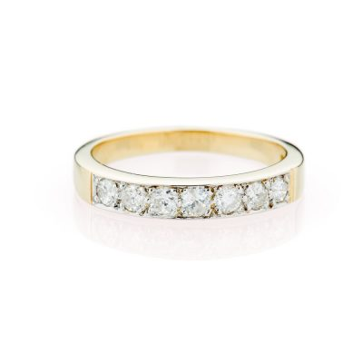 Heidi Kjeldsen Scintillating Diamond Eternity And 18ct Yellow And White Gold Ring