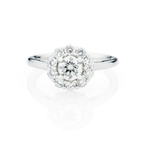 Heidi Kjeldsen Stunning Diamond Cluster In 18ct White Gold Ring