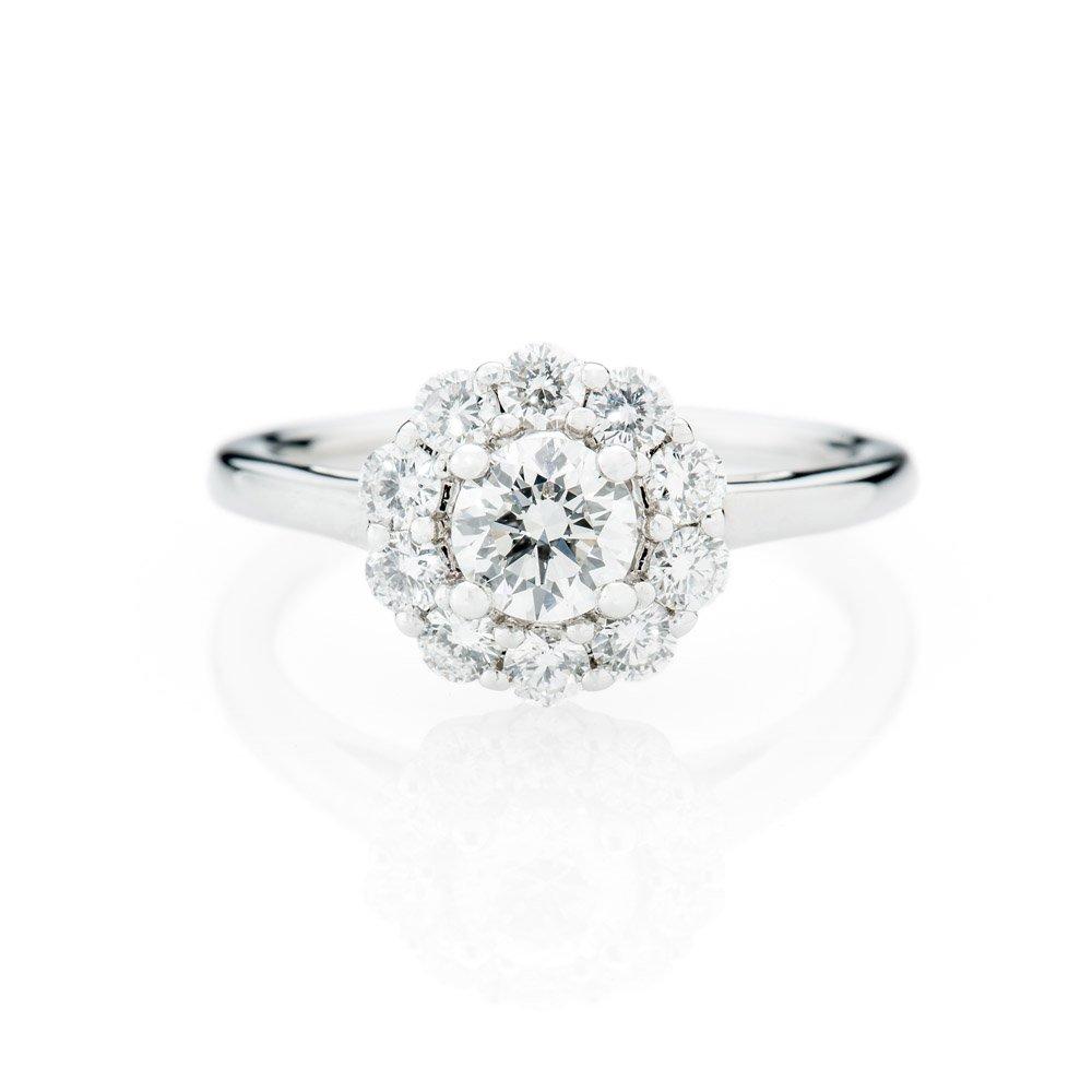 Heidi Kjeldsen Stunning Diamond Cluster In 18ct White Gold Ring