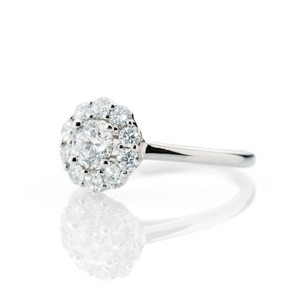 Diamondd Cluster ring by Heidi Kjeldsen Jewellery R1115 Side
