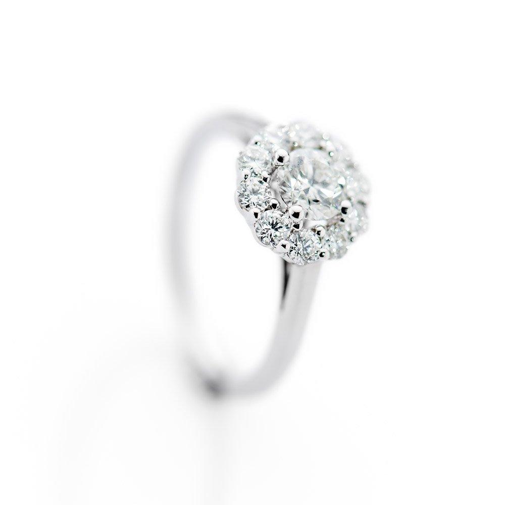 Diamondd Cluster ring by Heidi Kjeldsen Jewellery R1115 Vertical