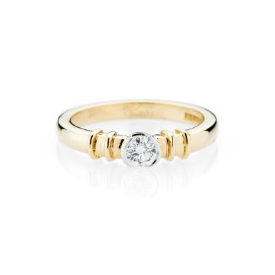 Heidi Kjeldsen Stunning Diamond Solitaire And 18ct Yellow And White Gold Ring