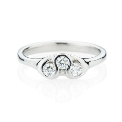 Heidi Kjeldsen Unusual Diamond And 18ct White Gold Ring