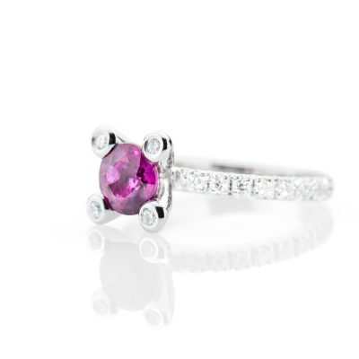 Heidi Kjeldsen Vibrant Pink Sapphire And Diamond 18ct White Gold Ring