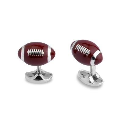 Heidi Kjeldsen Sterling Silver American Football Cufflinks CL0251