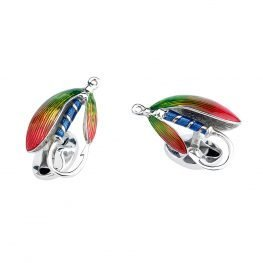 Heidi Kjeldsen Sterling Silver Fly Fishing Cufflinks CL0250