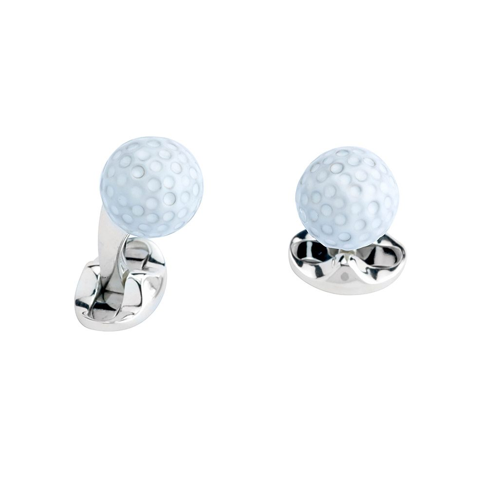 Heidi Kjeldsen Sterling Silver Golf Ball Cufflinks CL0245
