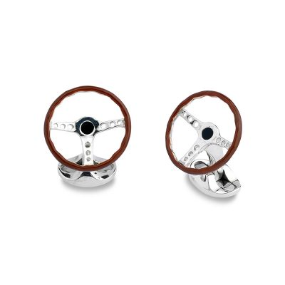 Heidi Kjeldsen Sterling Silver Vintage Steering Wheel Cufflinks CL0243