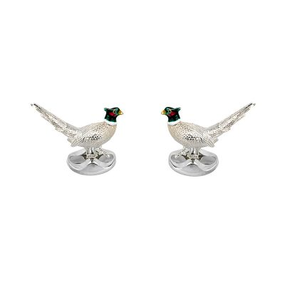 Sterling Silver Pheasant Cufflinks CL0248