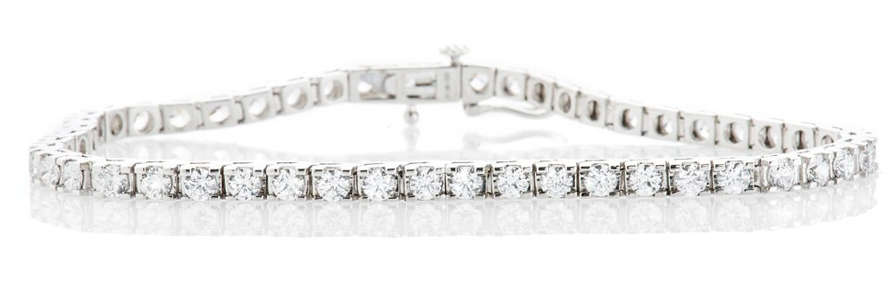 Heidi Kjeldsen Exquisite Diamond 5.00cts 18ct White Gold Tennis Bracelet Chris Evert story
