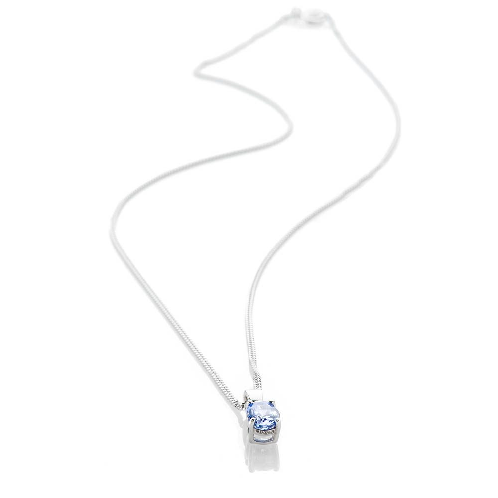 Heidi Kjeldsen Beautiful and Rare Tanzanite Oval Pendant 9ct White Gold - P1206+w9CB182.2-1