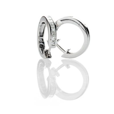 Heidi Kjeldsen Dazzling Diamond Hoop 18ct White Gold Earrings - ER2332-2