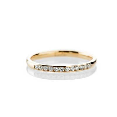 Heidi Kjeldsen Delicate 18ct Yellow Gold And Diamond Wedding or Eternity Ring R1175