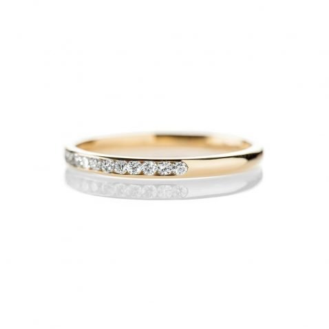 Heidi Kjeldsen Delicate 18ct Yellow Gold And Diamond Wedding or Eternity Ring R1175