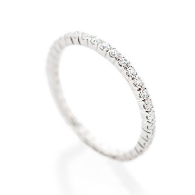 Heidi Kjeldsen Delicate Band 0.50cts Of Diamonds In An 18ct White Gold Full Eternity Ring R1267S