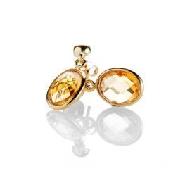 Heidi Kjeldsen Delightful Citrine Oval Drop Earrings In 18ct Yellow Gold - ER2214-2