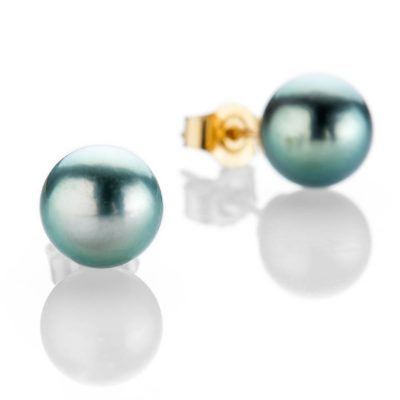 Heidi Kjeldsen Elegant And Exotic Tahitian Pearl Earstuds With 18ct Yellow Gold - ER2037-1