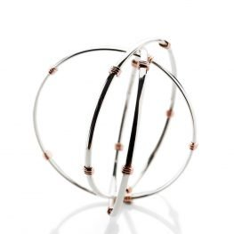 Heidi Kjeldsen Elegant And Timeless Sterling Silver And 9ct Rose Gold Triple Bangle BL1272-3