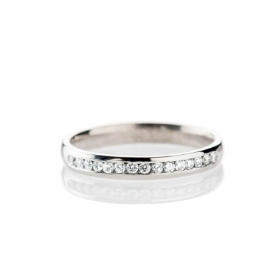 Heidi Kjeldsen Exquisite Diamond Channel Set Half Eternity Ring Platinum R1177