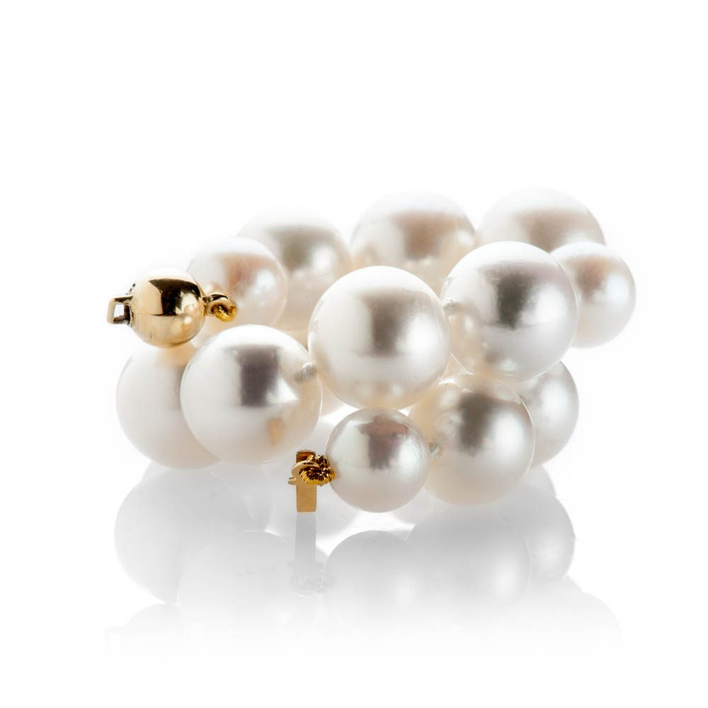 Heidi Kjeldsen Exquisite South Sea And Akoya Pearl Bracelet With 18ct Yellow Gold - BL1281-3