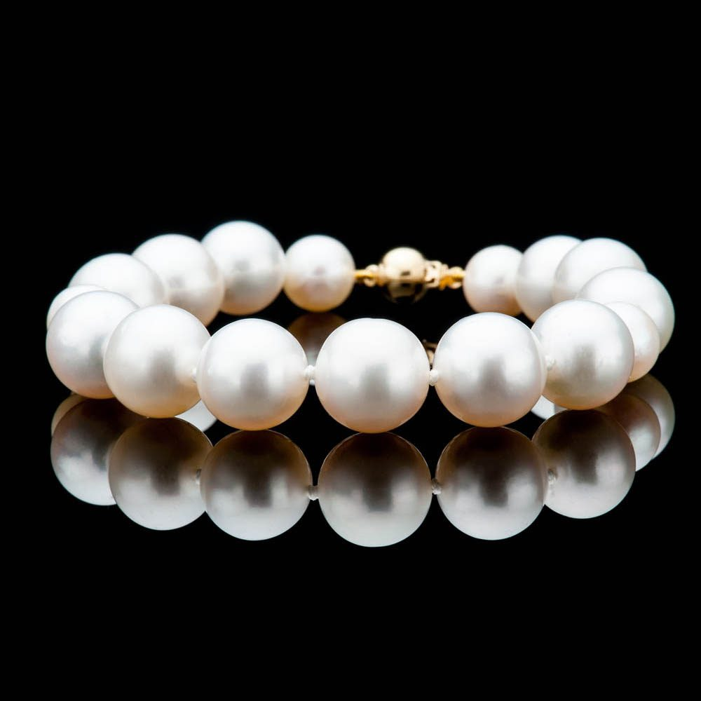 Heidi Kjeldsen Exquisite South Sea And Akoya Pearl Bracelet With 18ct Yellow Gold - BL1281-4